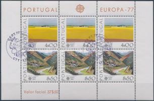Europa CEPT, landscapes block, Europa CEPT, tájak blokk