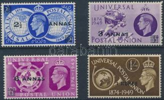 1949 75 éves az UPU sor Mi 31-34