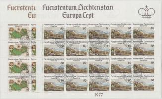 Europa CEPT:  Landscapes mini sheet set, Europa CEPT, tájak kisívsor