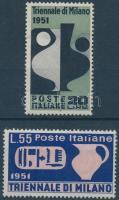 1951 Milánói Triennálé sor Mi 839-840