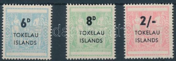 1966 Pecsétbélyeg sor Mi 1-3