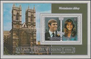 Prince Andrew and Sarah Ferguson's wedding block, András herceg és Sarah Ferguson esküvője blokk