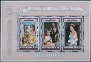 1977 II. Erzsébet uralkodásának 25. évfordulója blokk Mi 4