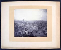 cca 1875 Hollandia Haarlem 3 nagyméretű fotó / cca 1875 Netherlands, Harlem large town view photos 34x26 cm