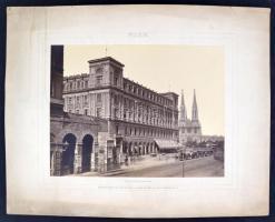 cca 1875 Bécs nagyméretű fotó / cca 1875 Austria, Vienna large town view photo 42x33 cm