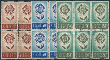 1964 Europa CEPT sor hatostömbökben Mi 240-242 elsőnapi bélyegzéssel