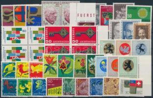 1967-1971 46 stamps, 1967-1971 46 db bélyeg, közte teljes sorok és összefüggések