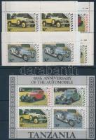 Car centenary minsiheet set + block, 100 éves az autó kisívsor + blokk