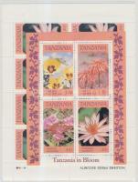 Flowers minisheet set + block, Virágok kisívsor + blokk
