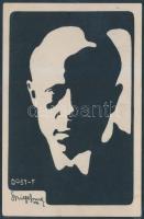 Dobi Ferenc(1880-1916) és Kürti József(1881-1939) színészek által írt és aláírt képeslap Pázmán Ferenc színésznek