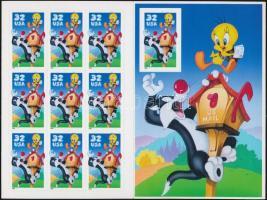 Cartoons: Sylvester and Tweety self-adhesive stamp booklet, Mesefigurák: Szilveszter és Csőrike öntapadós bélyegfüzet