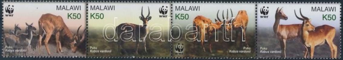 2003 WWF: Puku mocsáriantilop négyescsík Mi 721-724