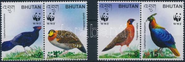 WWF: Bird 2 pairs from block, WWF: Madár blokkból kitépett 2 pár