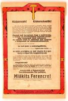 1922 Schima Bandi (1882-1959): A vörösek izgatása, vegyes technika, papír, jelzés nélkül, postán megküldve, 38×25,5 cm