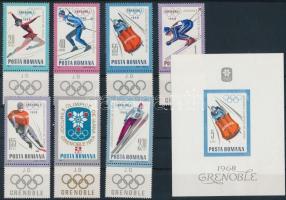 Winter olympics, Téli olimpia, szelvényes sor  + blokk 64