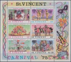 Carnival block + 5 diff minisheet, Karnevál blokk + 5 klf kisív