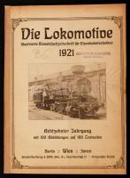 1921 Die Lokomotive. Illustrierte Monatsfachzeitschrift für Eisenbahntechniker. 18. évf., a 12 lapszám egybekötve, összesített tartalomjegyzékkel Számos érdekes írással. /  1921 Die Lokomotive. Illustrierte Monatsfachzeitschrift für Eisenbahntechniker. Vol. 18, the 12 issues are bound together, with table of contents for the whole volume. Contains many interesting writings.