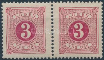 Postage due pair (gum disturbance), Portó párban (töredezett gumi/gum disturbance)