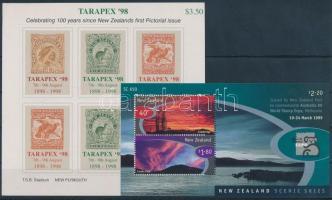 1998-1999 International Stamp Exhibition, TARAPEX '98 and AUSTRALIA '99 2 diff blocks, 1998-1999 Nemzetközi bélyegkiállítás, TARAPEX '98 és AUSTRALIA '99 2 klf blokk