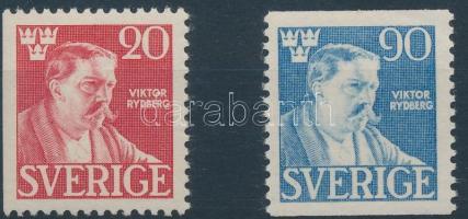 Viktor Rydberg's death 2 stamps, Viktor Rydberg halála sor 2 értéke