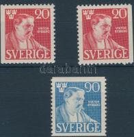Viktor Rydberg's death 3 stamps, Viktor Rydberg halála sor 3 értéke