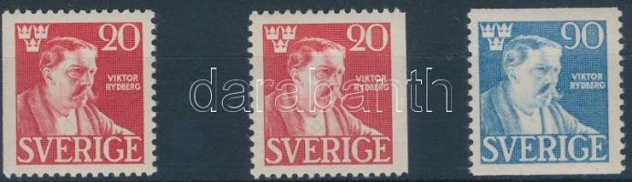 Viktor Rydberg halála sor 3 értéke, Viktor Rydberg's death 3 stamps