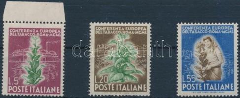 1950 Európai dohánykonferencia sor Mi 802-804