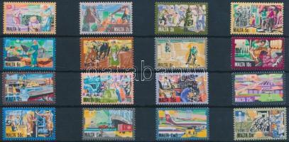 1981 Forgalmi bélyeg, gazdasági és kulturális fejlődés sor Mi 636-651