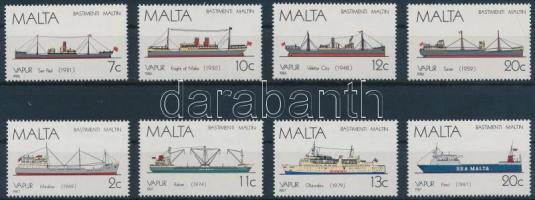 1986-1987 Málta-i hajók 2 klf sor Mi 758-761, 775-778