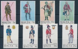 1987-1988 Málta-i egyenruhák 2 klf sor Mi 768-771, 799-802