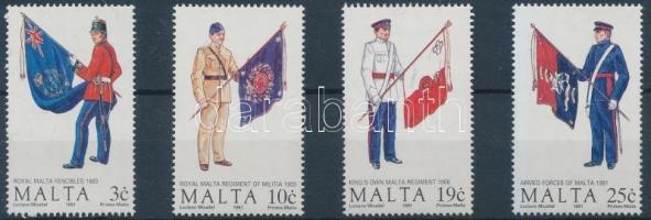 1991 Málta-i egyenruhák sor Mi 859-862