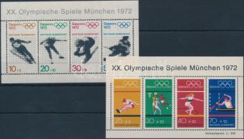 1971-1972 Olimpia 2 blokk Mi 6 + 8