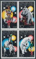 1978 Cirkusz négyestömb Mi 2364-2367