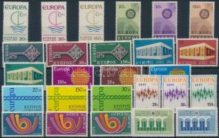Cyprus Europa CEPT 9 diff sets, Ciprus Europa CEPT motívum 9 klf sor