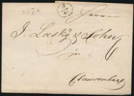 ~1840 Portós levél / unpaid cover DEZS - Clausenburg