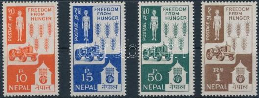 1963 Küzdelem az éhezés ellen sor Mi 168-171