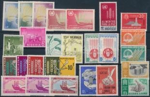 Fighting hunger campaign 11 diff countries 26 diff stamps, Küzdelem az éhezés ellen kampány 11 klf ország közös kiadása 26 klf bélyeg