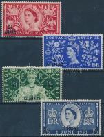 1953 II. Erzsébet királynő sor Mi 44-47