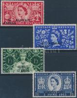 1953 II. Erzsébet királynő sor Mi 104-107