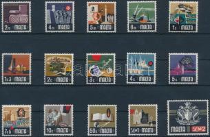 1973 Forgalmi bélyegek sor Mi 457-471