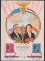 Roosevelt emlékív, Roosevelt memorial sheet