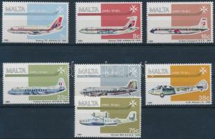 1984 Repülőgépek sor Mi 697-703