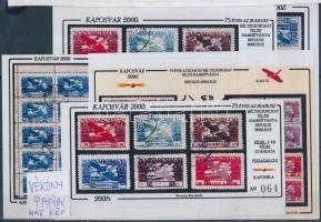 2000 Kaposvári emlékív teljes garnitúra: 75 éves az Ikarusz sorozat hamisítványa 15 db emlékív (53.000)