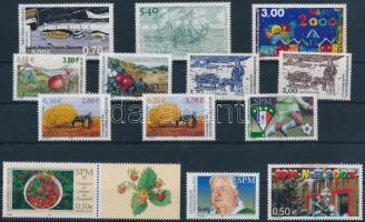 2000-2003 13 diff stamps, 2000-2003 13 klf bélyeg