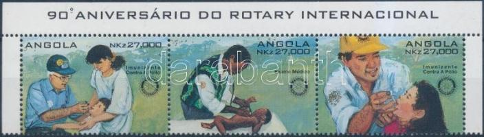 1995 Rotary ívsarki hármascsík portugál felirattal Mi 992-994