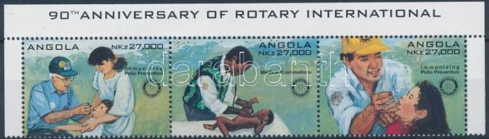 1995 Rotary ívsarki hármascsík angol felirattal Mi 995-997