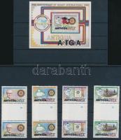 1980 Rotary sor ívközéprészes párokban Mi 577-580 + blokk Mi 48 + 2 db FDC