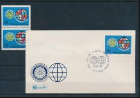 Rotary stamp in pairs + FDC, Rotary bélyeg párban + FDC