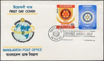 1980/1987 Rotary sor négyestömbökben + FDC + felülnyomott sor Mi 131-132, 255-256