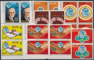 1981 Rotary sor négyestömbökben Mi 544-550